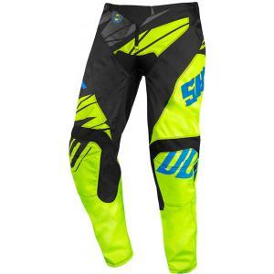 Dziecięce motocrossowe spodnie Shot Devo Ventury czarno-niebiesko-fluo żółte