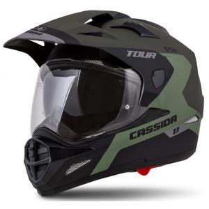 Enduro kask Cassida Tour 1.1 Spectre czarno-szaro-zielony