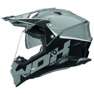 Enduro kask NOX N312 Crow czarno-szary