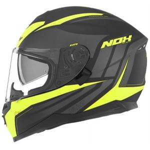 Integralny kask motocyklowy NOX N302 Shape czarno-żółty wyprzedaż