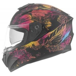 Integralny kask motocyklowy NOX N918 Kero czarno-różowy