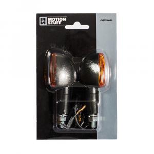 Bulb flasher lights MOTION STUFF black long stem