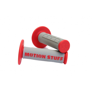 Motocross supersoft grip MOTION STUFF Grey/Red