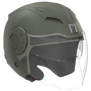 Otwarty kask motocyklowy NOX PREMIUM Booster zielony matowy wyprzedaż