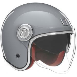Otwarty kask motocyklowy NOX PREMIUM Heritage szary
