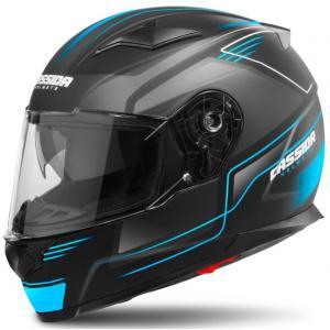 Integralny kask motocyklowy Cassida Apex Fusion czarno-niebieski