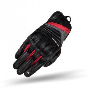Rękawice motocyklowe Shima Rush czarno-czerwone
