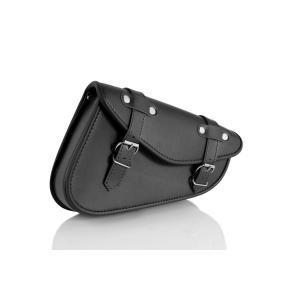 Leather saddlebag CUSTOMACCES DETROIT AP0002N black right