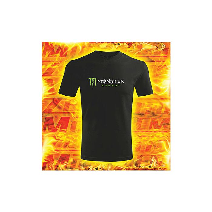 T-shirt z motywem Monster Energy czerni