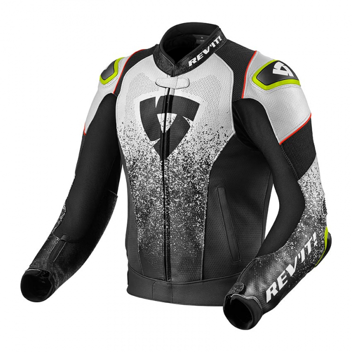 Skórzana kurtka motocyklowa Revit Quantum Air czarno-biała wyprzedaż
