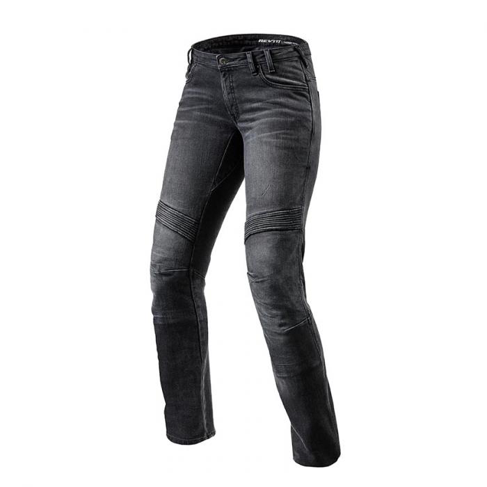 Damskie jeansy motocyklowe Revit Moto TF czarne wyprzedaż