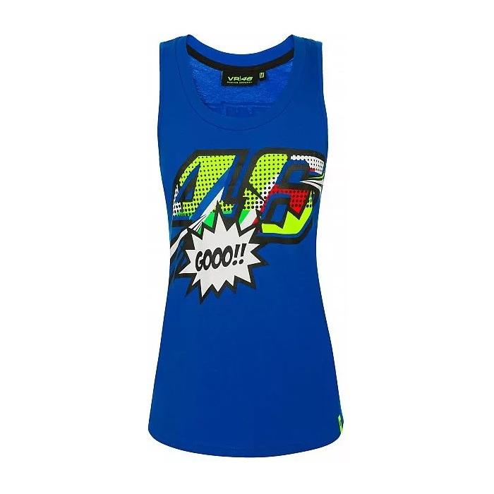 Koszulka damska VR46 Valentino Rossi POP ART niebieska