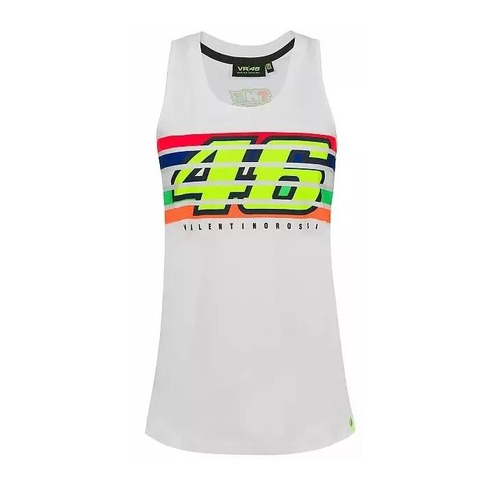 Koszulka damska VR46 Valentino Rossi STRIPES biała