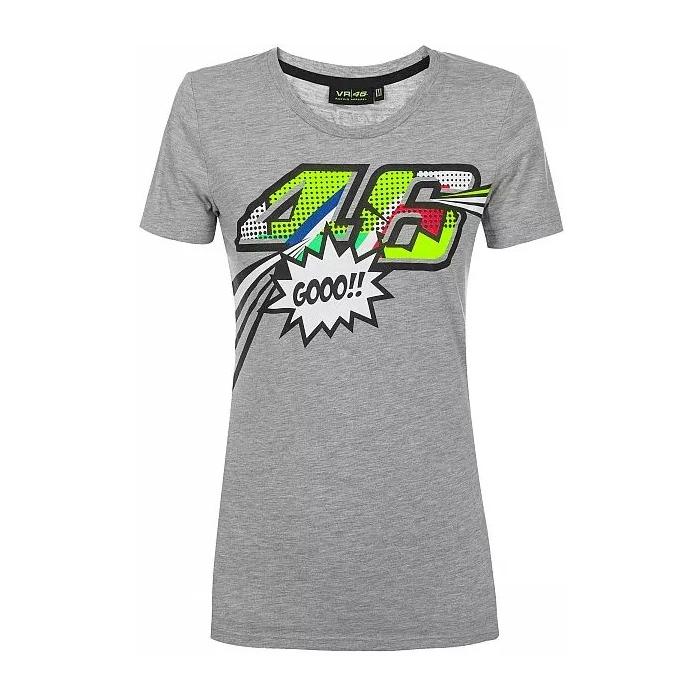 Koszulka damska VR46 Valentino Rossi POP ART szara