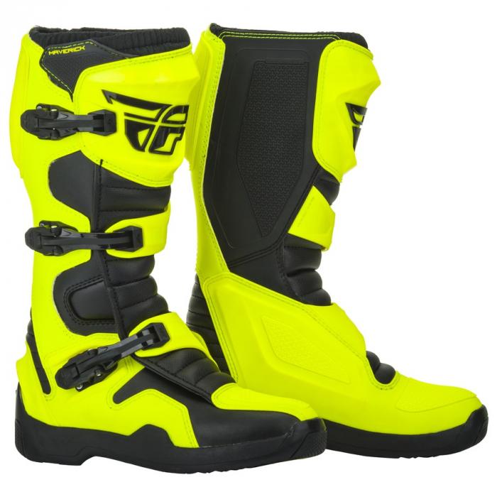 Buty motocyklowe Fly Racing NEW Maverik 2019 czarno-fluo żółte wyprzedaż