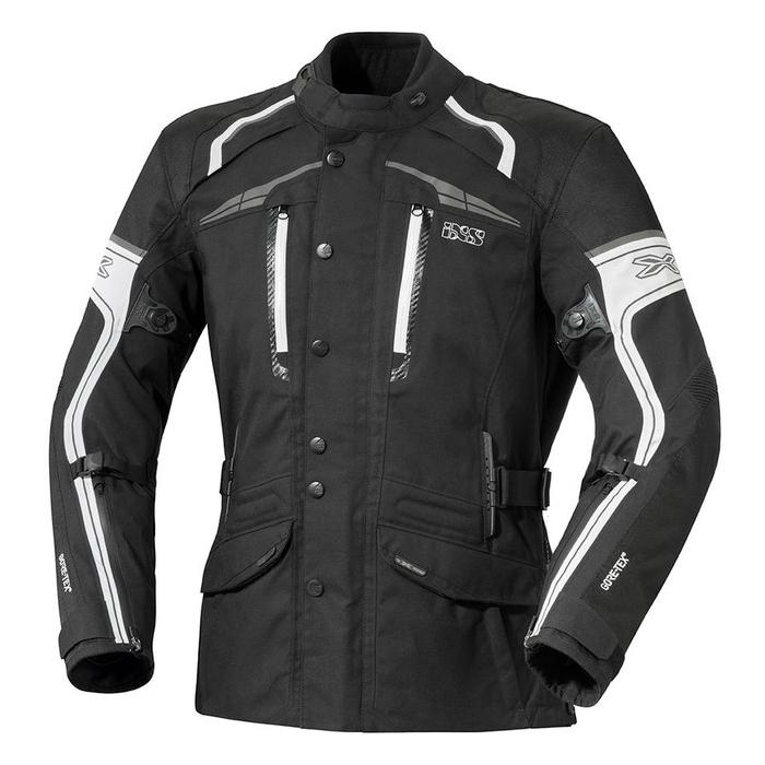 Kurtka motocyklowa iXS Montgomery czarno-biała