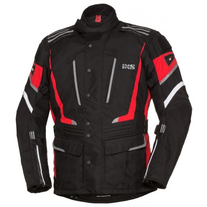 Kurtka motocyklowa iXS Powells czarno-czerwona