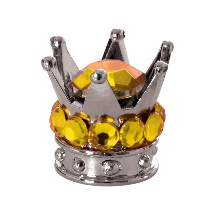 Nakrętki na wentyl Oxford Crown srebrno-złote