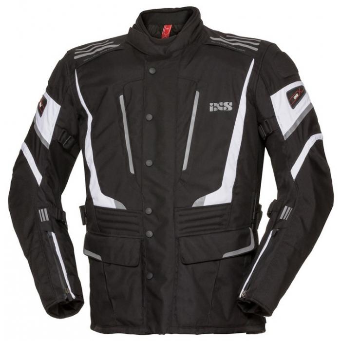 Damska kurtka motocyklowa iXS Powells czarno-biała