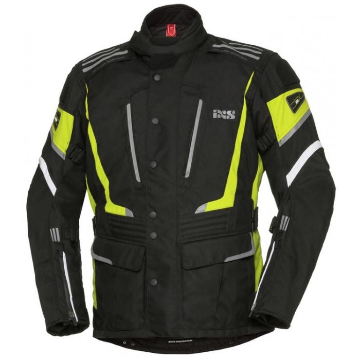 Damska kurtka motocyklowa iXS Powells czarno-biało-fluo żółta