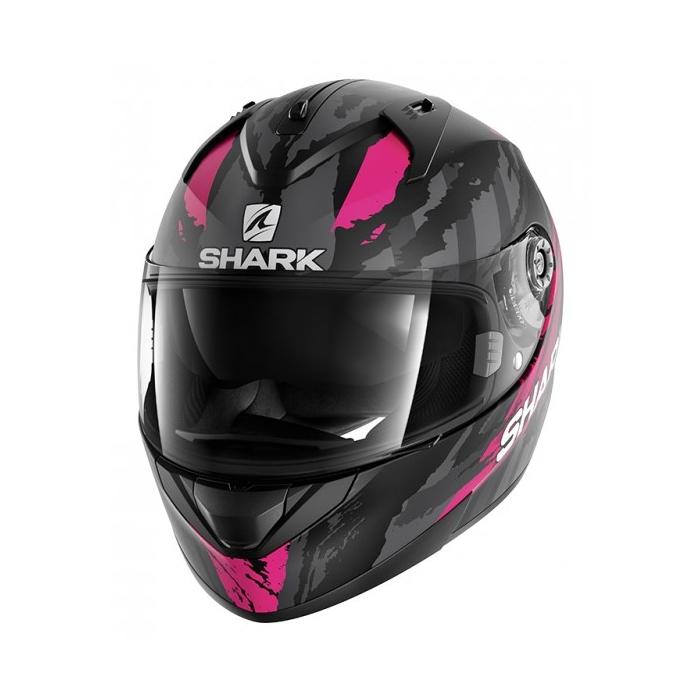 Damski integralny kask motocyklowy SHARK RIDILL Oxyd Mat czarno-szaro-różowy