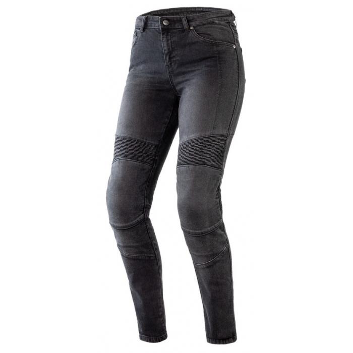Damskie jeansy motocyklowe Ozone Agness II czarne