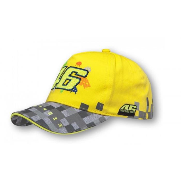Czapka dziecięca VR46 Valentino Rossi żółto-szara