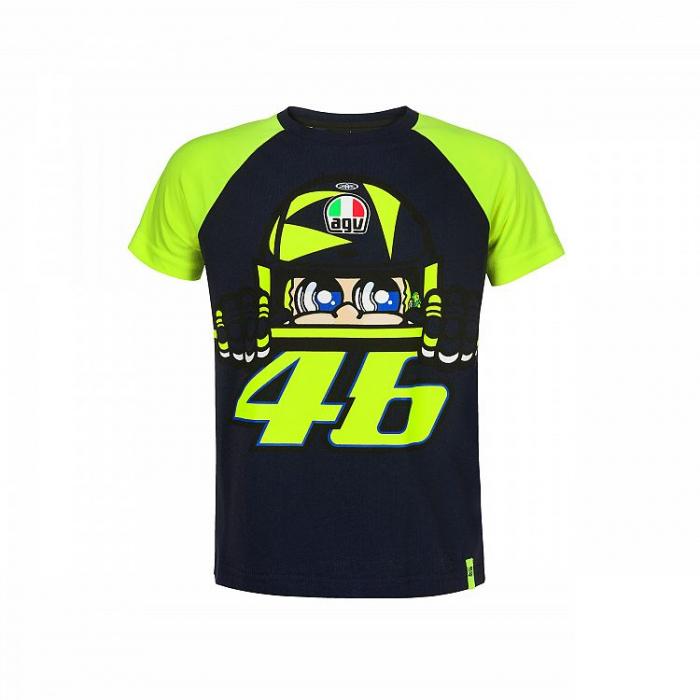 Koszulka dziecięca VR46 Valentino Rossi CUPOLINO żółto-niebieska