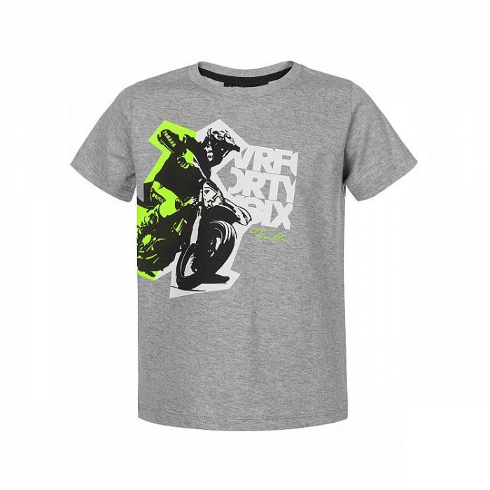 Koszulka dziecięca VR46 Valentino Rossi szara