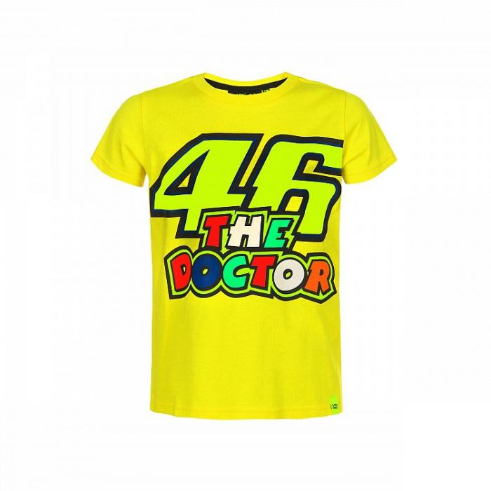 Koszulka dziecięca VR46 Valentino Rossi THE DOCTOR żółta