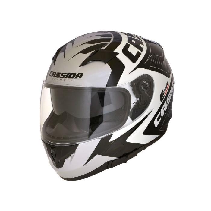 Integralny kask motocyklowy Cassida Integral 2.0 Perimetric czarno-biało-szary