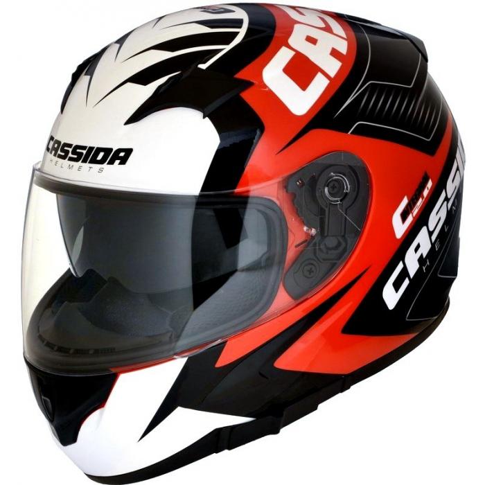 Integralny kask motocyklowy Cassida Integral 2.0 Perimetric czerwono-czarno-biało-szary