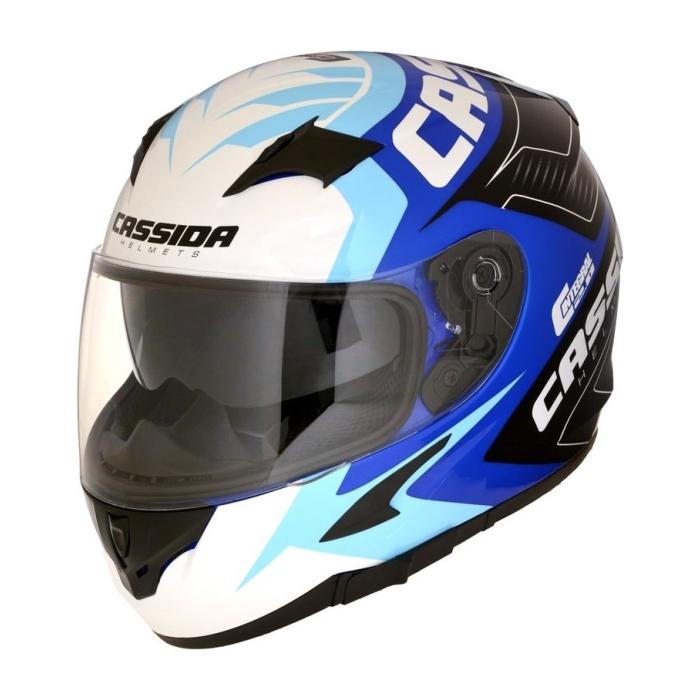 Integralny kask motocyklowy Cassida Integral 2.0 Perimetric niebiesko-czarno-biały