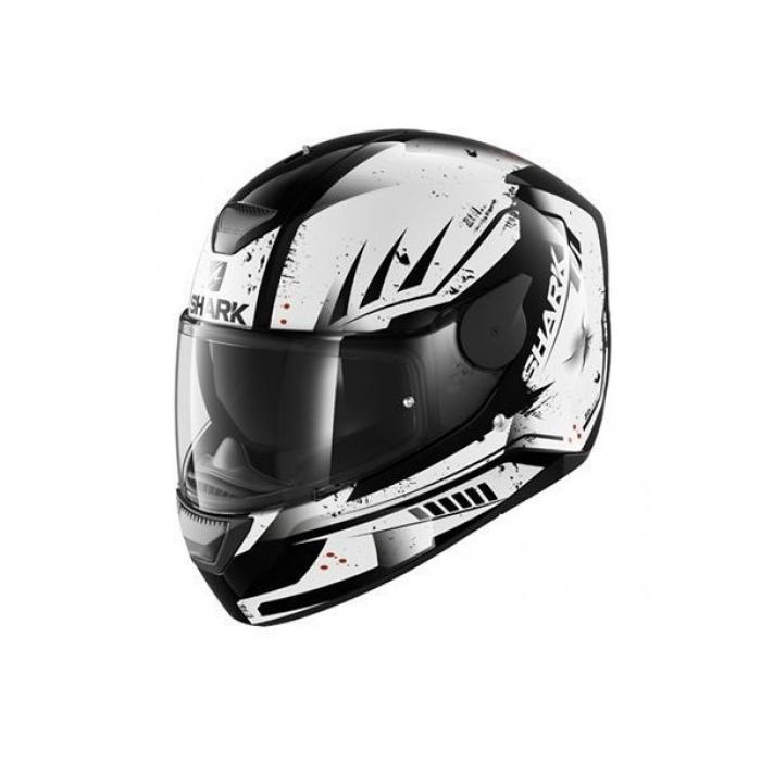Integralny kask motocyklowy SHARK D-SKWAL Dharkov czarno-biały