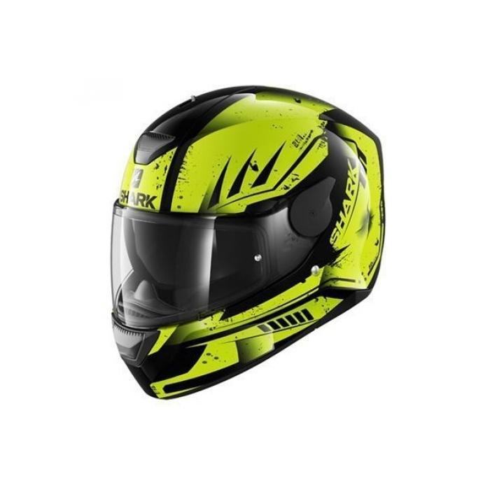 Integralny kask motocyklowy SHARK D-SKWAL Dharkov czarno-fluo żółty