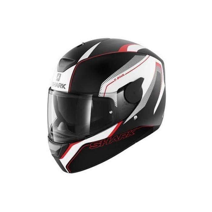 Integralny kask motocyklowy SHARK D-SKWAL Rakken czarno-biało-czerwony