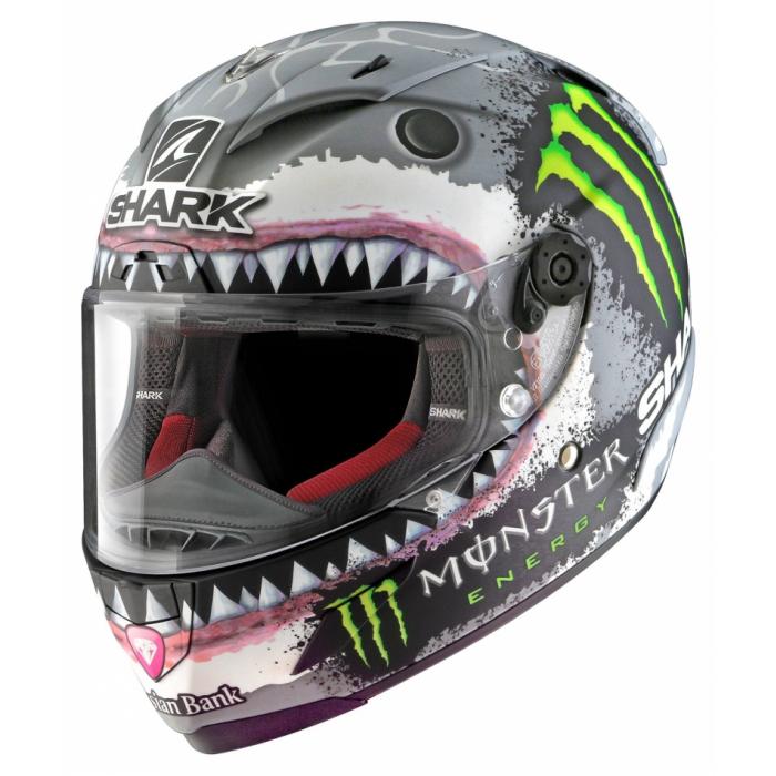 Integralny kask motocyklowy SHARK RACE R-PRO Lorenzo White Shark