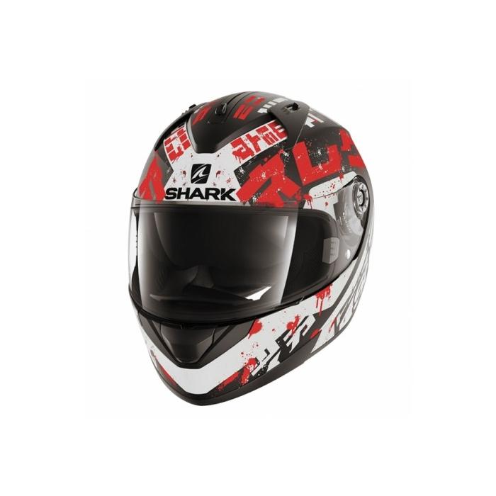 Integralny kask motocyklowy SHARK RIDILL Kengal Mat czarno-biało-czerwony