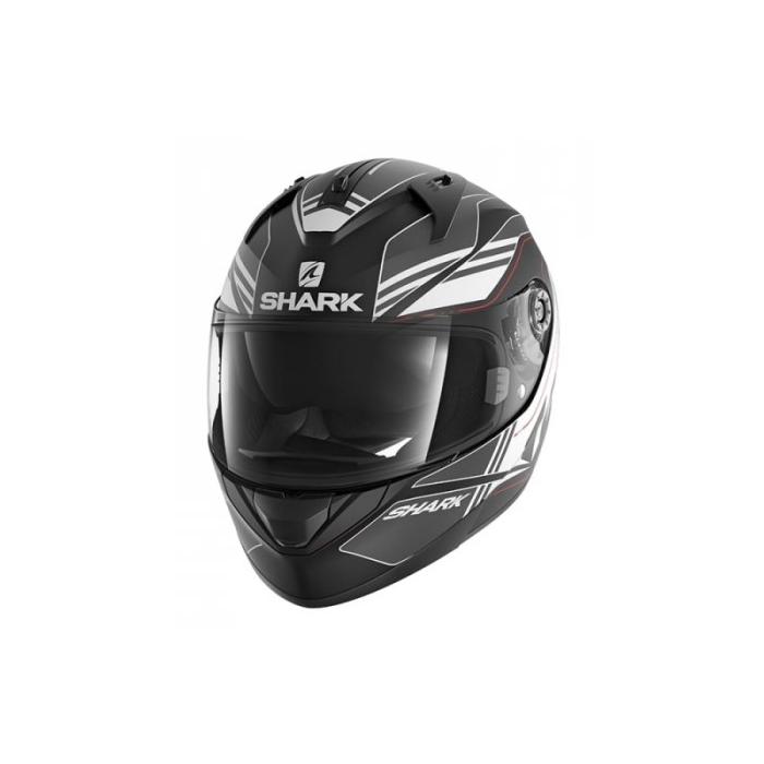 Integralny kask motocyklowy SHARK RIDILL Tika Mat czarno-szaro-biały