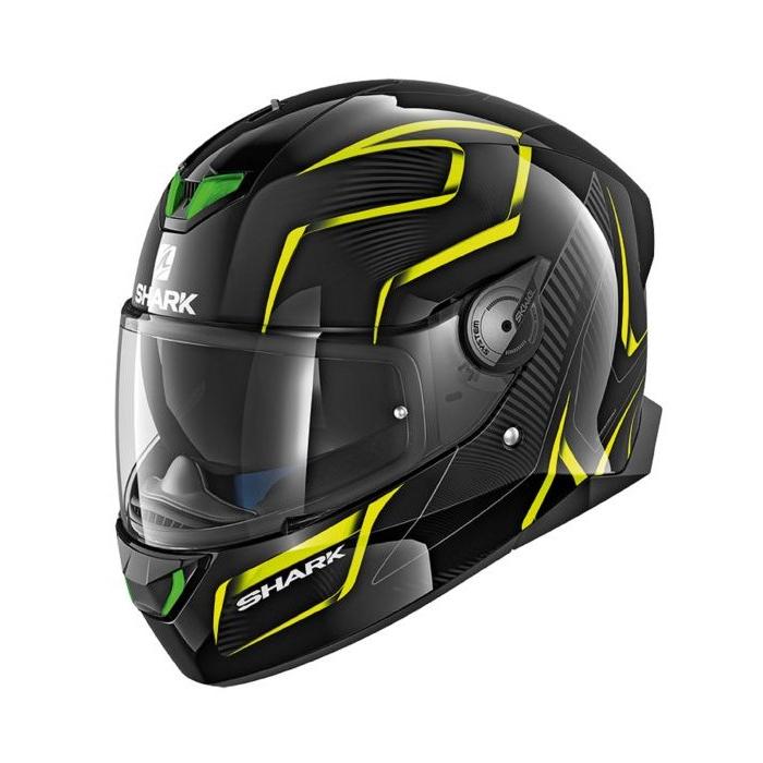 Integralny kask motocyklowy SHARK SKWAL 2 Flynn czarno-szaro-fluo żółty
