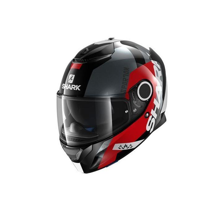 Integralny kask motocyklowy SHARK SPARTAN Apics czarno-szaro-czerwony