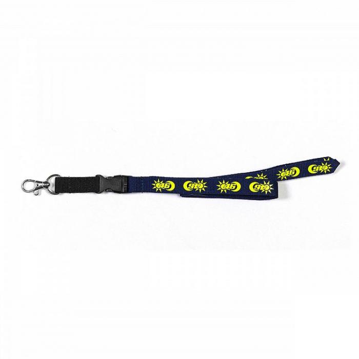Smycz do kluczy VR46 Valentino Rossi SUN AND MOON niebiesko-żółta