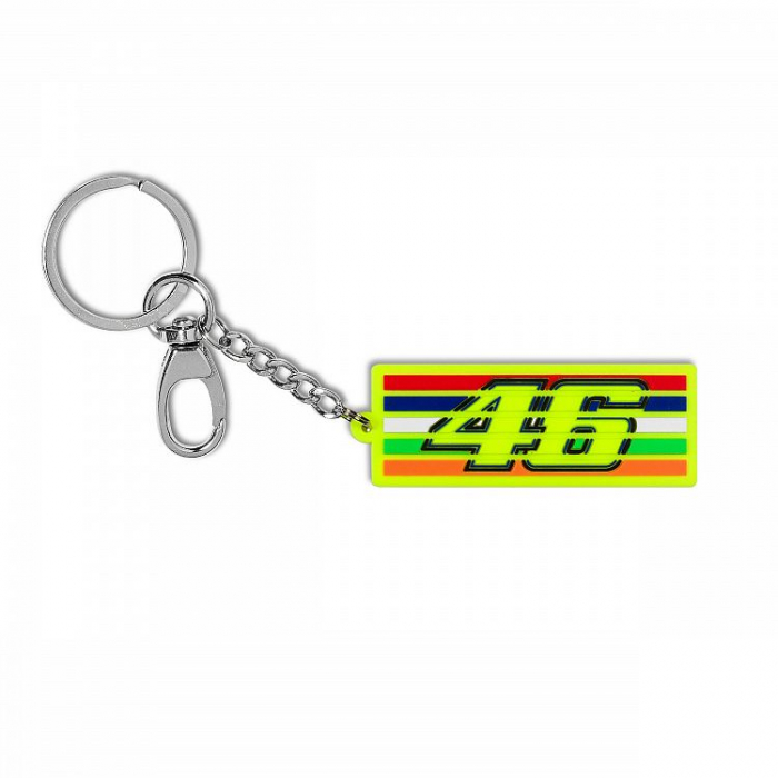 Brelok VR46 Valentino Rossi STRIPES żółty