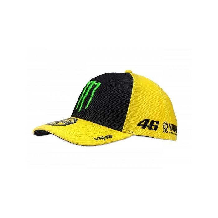 Czapka z daszkiem VR46 Valentino Rossi SPONSOR żółto-niebieska