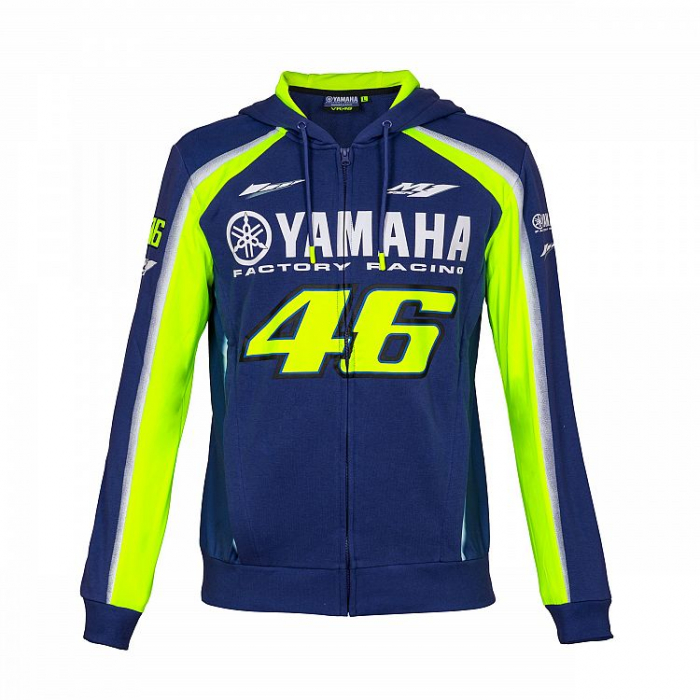 Bluza VR46 Valentino Rossi fleece Yamaha niebiesko-żółta