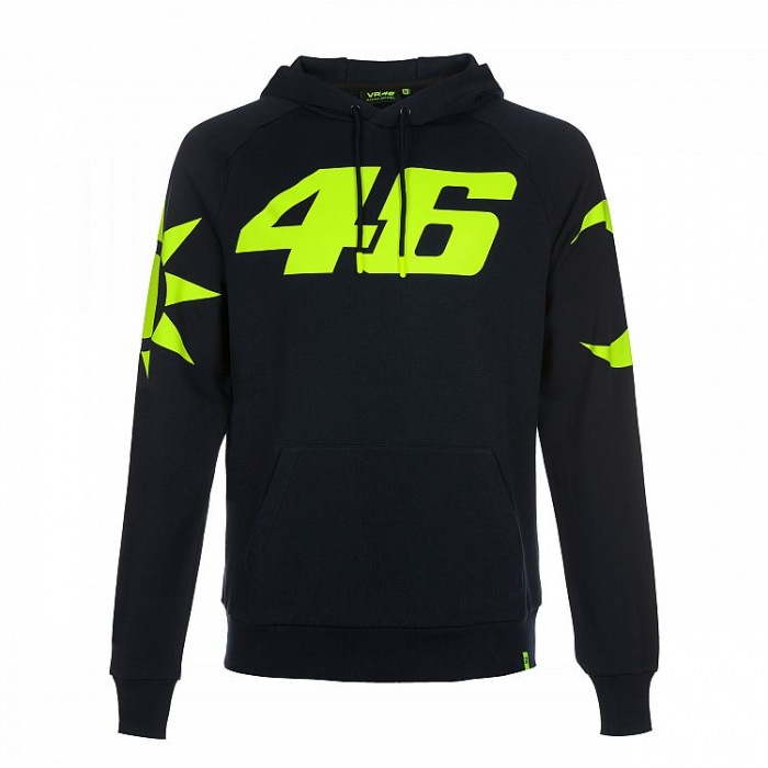Bluza VR46 Valentino Rossi REPLICA Fleece ciemno niebieska