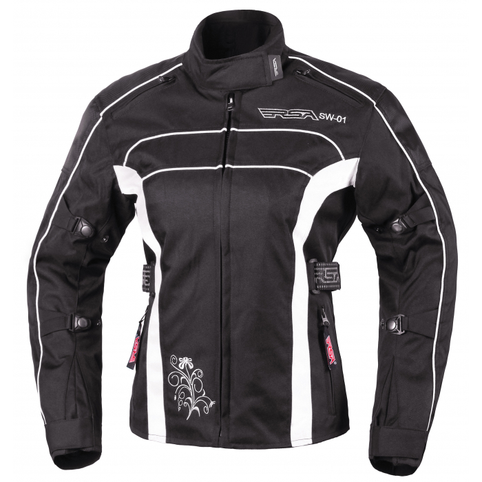 Damska kurtka motocyklowa RSA SW-01 czarno-biała - II. jakość