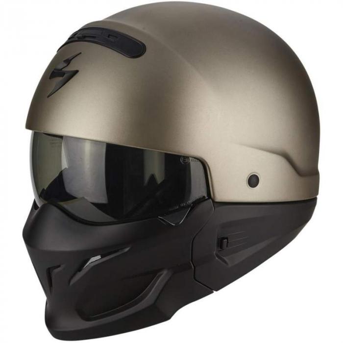 Kask motocyklowy Scorpion EXO-Combat tytanowy wyprzedaż