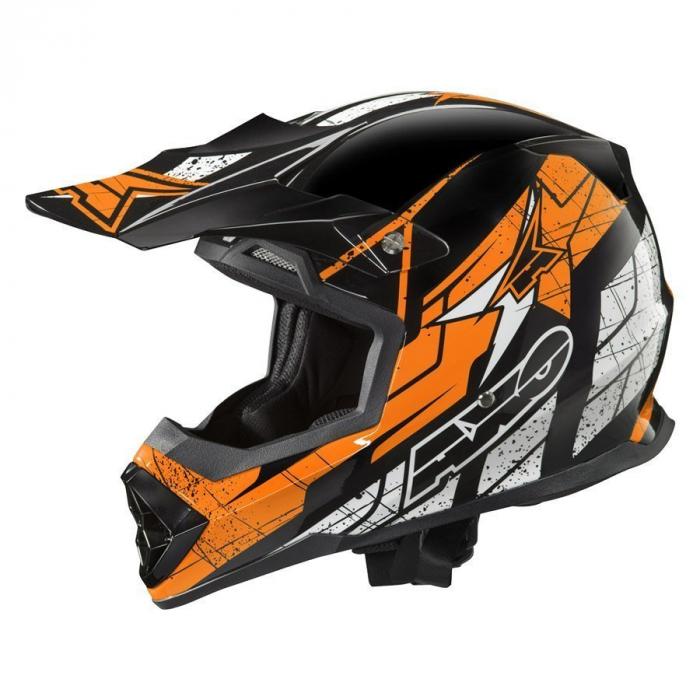 Motocrossowy kask AXO Tribe czarno-pomarańczowy - II. jakość