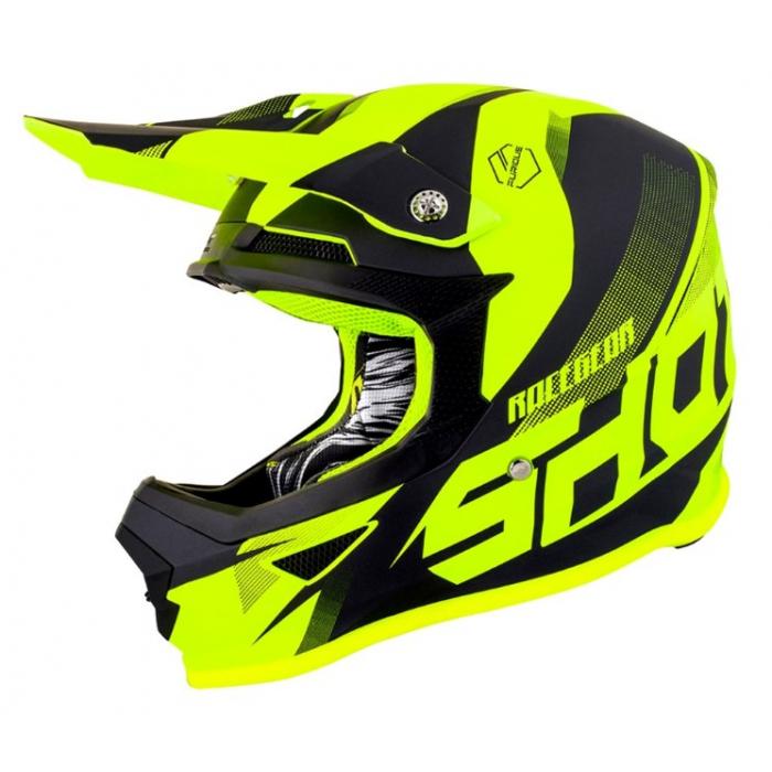 Motocrossowy kask Shot Ultimate czarno-fluo żółty
